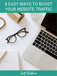 eBook Cover 8 easy ways to boost your website traffic